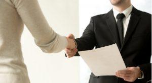 Employment handshake