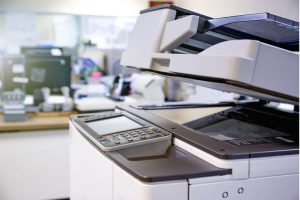The photocopier or network printer at the office